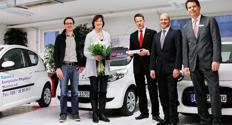 ALD übergibt 28 Citroën C1 an den Evangelischen Pflegedienst München