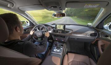 Audi, A6, 2016, Innenraum, fahrer, fahrend,