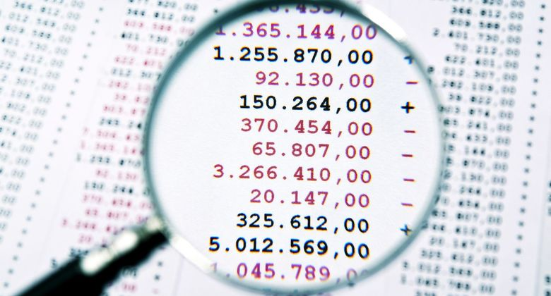 Daten, Lupe, Zahlen, Rechnung