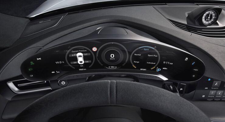 Der Innenraum des Porsche Taycan