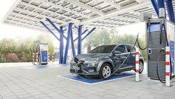 E.-Auto, Hyundai Kona Elektro 2020, laden, Ladesäule, EnBW, Schnellader