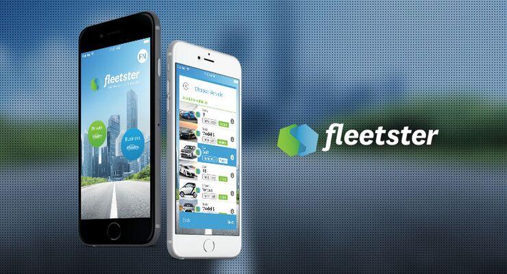 Fleetster App Smartphone Fahrzeugverwaltung Software