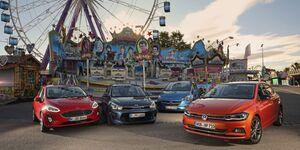 Ford Fiesta 1.0 Ecoboost, Kia Rio 1.0 T-GDI, Opel Corsa 1.4 Turbo, VW Polo 1.0 TSI
