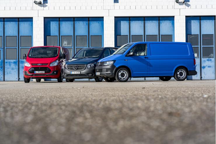 Ford Transit, Mercedes Vito, VW T6