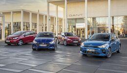 Hyundai i20 2021, Honda Jazz, 2021, Kia Rio 2021, Opel Corsa 2021