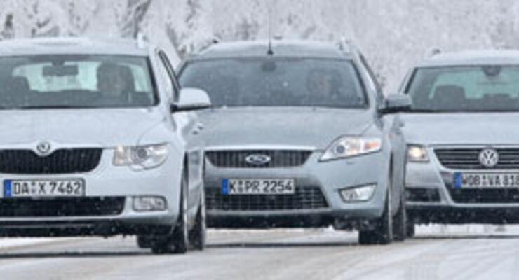 Kampf der Kombis: Skoda Superb, Ford Mondeo, VW Passat