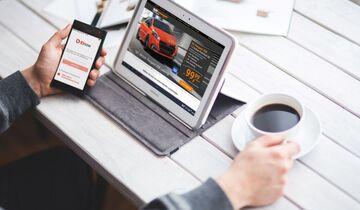 Leasing Sixt Neuwagen Laptop Büro Schreibtisch