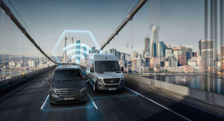Mercedes-Benz Vans bietet zahlreiche digitale Lösungen für effizienten Transport // Mercedes-Benz Vans offers numerous digital solutions for efficient transport