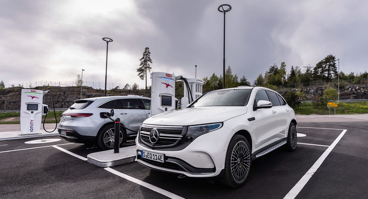 Mercedes EQC 2019, Ionity, ladestation, schnell laden,