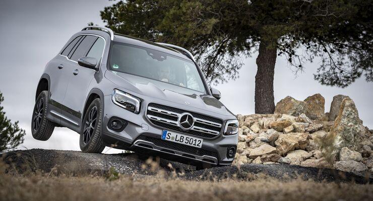Mercedes GLB, offroad, vorne, links