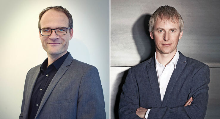 Michiel Wesseling (links), Jan-Maarten de Vries Webfleet Solutions