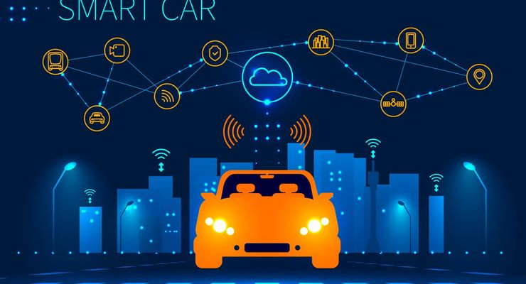 Smart car wireless network connection with smart city