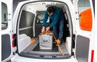 VW Caddy, Boden, Seitenwände, robuste Holz