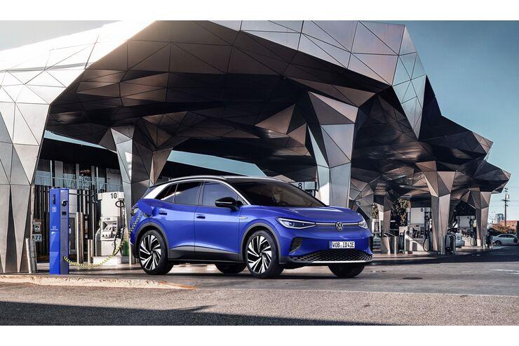 VW ID.4 2021, Ladesäule, laden