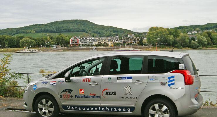 Versuchsfahrzeug, Peugeot 5008, HTW, Langstreckenrekord