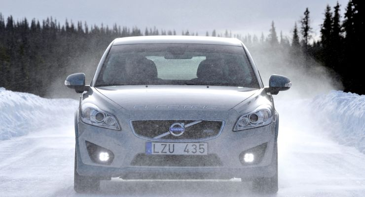Volvo Electric im Winter