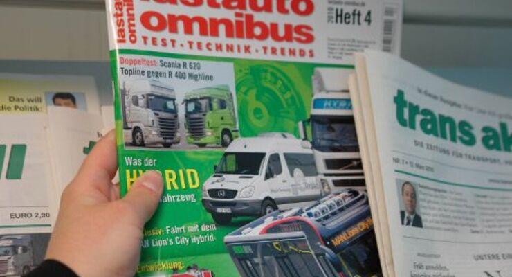 lastauto omnibus frisch am Kiosk