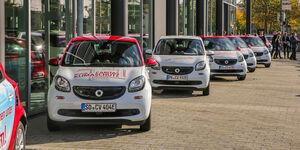 smart bietet Gewerbekunden individuelles Carsharing per App an: fleetshare by smart: Der Fuhrpark in der Tasche  null